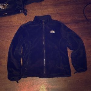 Women's furry North Face winter coat